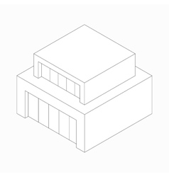 Modern abstract house icon isometric 3d style vector