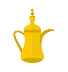 oriental teapot icon flat style vector image