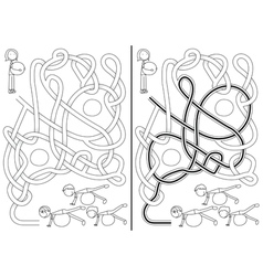 Pilates class maze vector image vector image