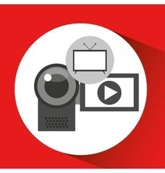 screen tv movie camcorder film vector image