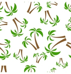 seamless pattern palms vector image vector image