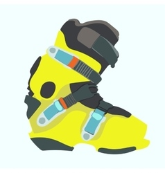 Snowboard boot vector