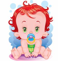 the baby vector image vector image