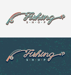 The inscription Fishing original lettering vector image vector image