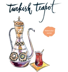 Turkish teapot vector