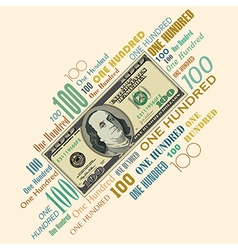 100 typography money vector