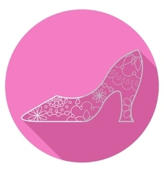 Flat icon of shoe vector image
