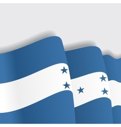 Honduras waving flag vector