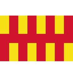 Flag of northumberland vector