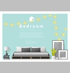Interior design bedroom background 3 vector