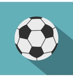 Soccer ball icon flat style vector