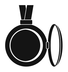 Medallion icon simple style vector