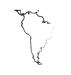 World map sourth america continent country image vector