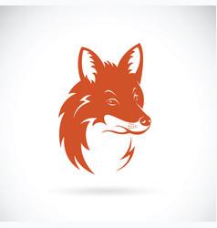 Fox head on white background wild animals vector