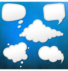 Blue Grunge Texture With Speech Bubble vector image