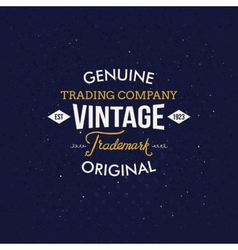 Vintage fashion labels on dark blue background vector