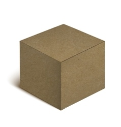 Realistic cardboard box isolated on white vector