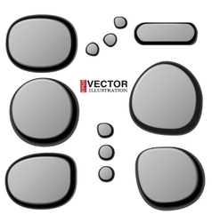 Collections of spa stones vector