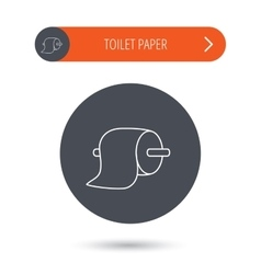 Toilet paper icon wc hygiene sign vector
