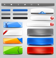 glossy web collection vector image