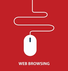 Web browsing concept vector