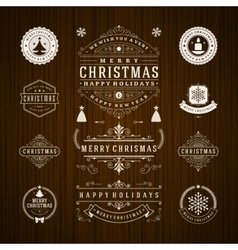 Christmas decorations design elements vector