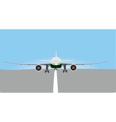 plane landing vector image