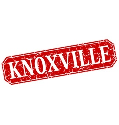 Knoxville red square grunge retro style sign vector
