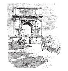 Arch of titus in the time of trajan vintage vector