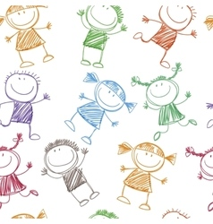 background cheerful children vector image vector image