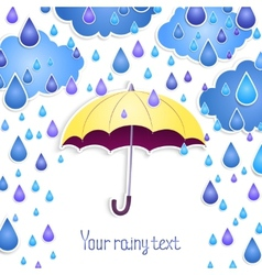 Background for the text with an umbrella vector