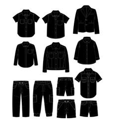 Boys clothes Sketches vector image