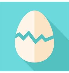 Broken egg vector
