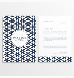 Business letterhead template in abstract shape vector