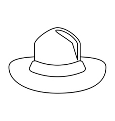 Canadian hat mounted policeman outline vector