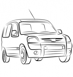 car sketch vector image vector image