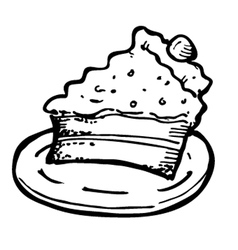 cheesecake vector image