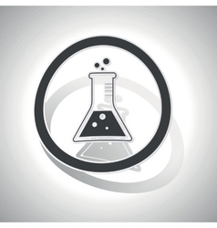 Conical flask sign sticker curved vector