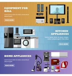Consumer electronics store banners set vector image vector image