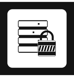 Data protection icon simple style vector image vector image