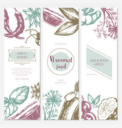 Flavoured products - hand drawn template banner vector