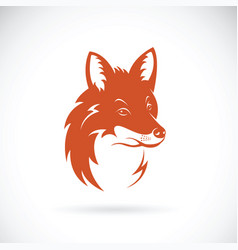 fox head on white background wild animals vector image