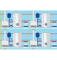 Gas boiler in the cottage pattern vector