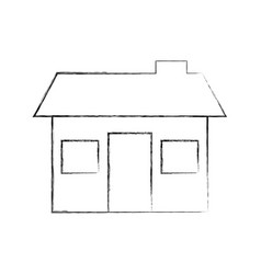 house structure real estate property residential vector image