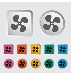 Icon fan vector