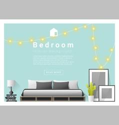 Interior design bedroom background 3 vector image vector image