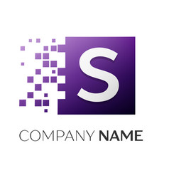 letter s logo symbol in the colorful square with vector image