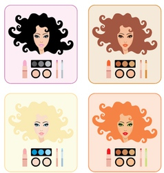 make-up for women vector image vector image