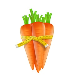 Measuring tape around a carrot vector