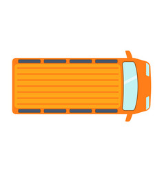 Overhead top view on colorful car toy pickup vector
